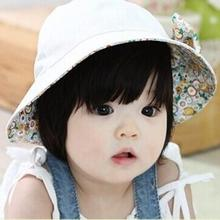 Summer Baby Infant Lace Floral Bowknot Floral Bonnet Cap Sun Hats Bucket