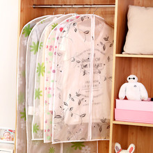 Printing plastic waterproof coat transparent dust cover Garment Suit Coat Dust skirt Protector Wardrobe Storage Bag Case