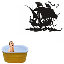 Pirates of the Caribbean Pirates wall stickers black pearl boat Border Tiles For Bathrooms Decoration(China)
