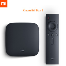 Original Global Version Xiaomi MI TV BOX 3 Android 6.0 Smart 4K Quad Core HDR Movie Set top WIFI Netflix Red Bull Media Player
