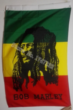 Bob Marley Flag Jamaica Rasta Flag hot sell goods 3X5FT 150X90CM Banner brass metal holes(China)