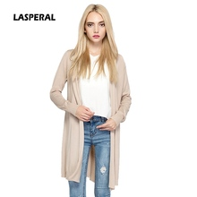 LASPERAL 2017 Spring Cardigan Women Casual Long Sleeve Womens Clothing Knitted Sweater Women Solid Long Cardigan