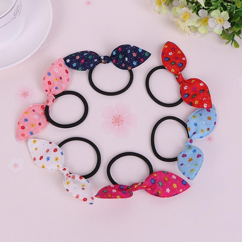 Flowers Rabbit Ears Hair Ring Headwear,  Child Towel Ring Rabbit Ears Hair Ring, Best DIY Gift For Kids And Girls<br><br>Aliexpress