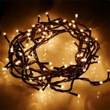 4M 100 LEDs Fairy Lights Holiday Lighting Xmas Holiday Party Outdoor Garden Tree Decoration String Lamp 220V EU Plug(China)