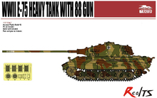 RealTS ModelCollect UA72017 1/72 Germany WWII E-75 Heavy Tank with 88 gun