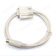 15 Pin VGA To Round Head 8 Pin S-video To VGA For Adapter Cable Computer   Connected Television Box