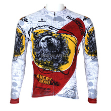 Hot sale 2016 new Bears men's angry Bears unique cycling jersey cool angry Bears riding clothing cheap full sleeve bike wear(China)