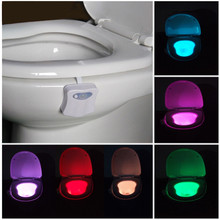Hot Sale Toilet Nightlight 8 color Toilet Lamp Hanging Lamp RGB LED Hotel Bathroom Led Light Sensor Sale