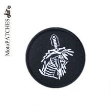 MotoPATCHES Embroidery Iron On Patches Clothing DIY Accessory Heavy Metal Bike Motorcycle Patches(China)