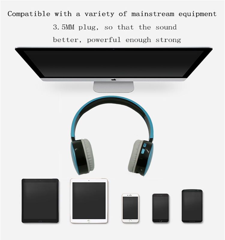 Hisonic Bluetooth Headset Wireless Headphones Stereo Sport Earphone Microphone Gaming Cordless Auriculares Audifonos 6