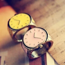 JZ126 The new European and American trade retro drip small candy-colored watches personalized ring