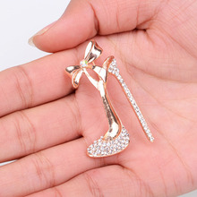 Popular Style High heels Shoes Brooches for Women Pins Wedding Brooches Fashion Brooch Jewelry Gift(China)