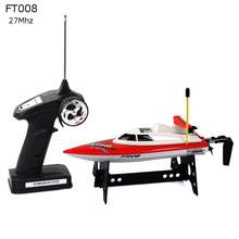 2017 Feilun FT008 4CH RC Racing Boat 27Mhz Mini High Speed Boats Radio Remote Control Motorboats Toy Beginner Kid Fun Gift