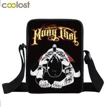 Muay Thai Mini Messenger Bag Tiger fighting Boys Girls Shoulder Bags School Bags Kids Children Crossbody Bag Bookbag Mochila(China)