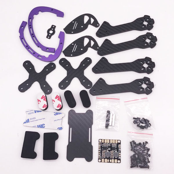 FPV racing drone D215 215MM frame with 5V 12V PDB battery strap 2pairs 5051 propllers Carbon Fiber 4mm Arm X Frame