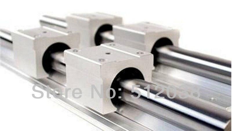 2pcs SBR12 200mm Linear Bearing Supported Rail + 4pcs SBR12UU 12mm CNC Router Linear Ball Bearing Block<br>