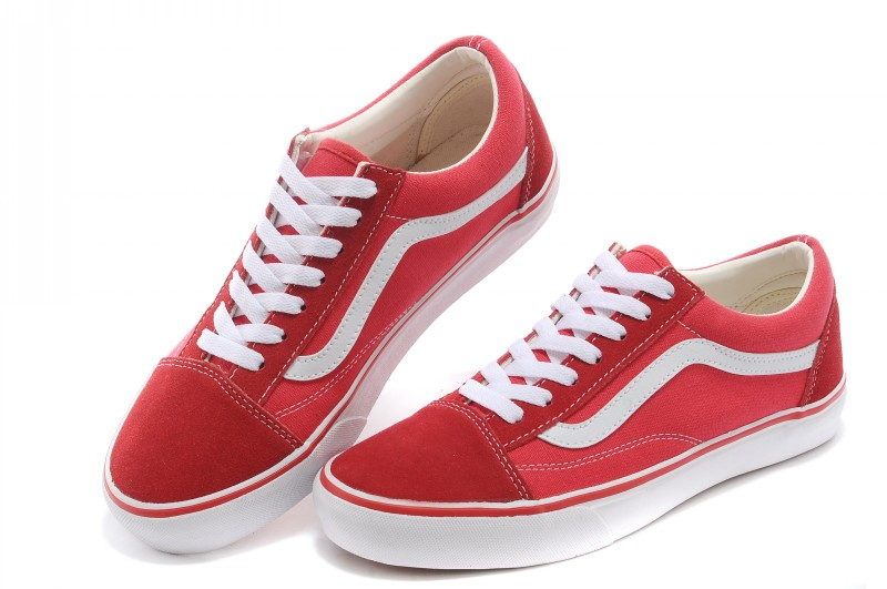 vans old skool pro - red