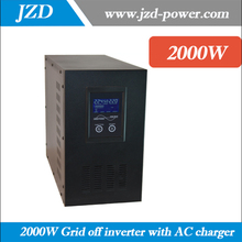 Solar Grid off Inverter 2000W 24VDC to 220VAC,50HZ dc to ac Converter with Pure sine Wave UPS inverter