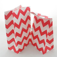 Promotion!! 150pcs Big Standing Up Red Pink Purple Blue Yellow Green Colourful Paper Bags Paper Party Giftwrap Favour  Bags