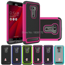 Shockproof Hybrid Football Case For Asus Zenfone 2 Laser ZE550KL ZE551KL 5.5 inch Soft Rubber Armor NEO Hard Plastic Cover 5pcs