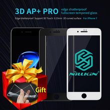 Nillkin AP+Pro 0.23mm 9H 3D Full Cover Tempered Glass For iPhone 7/7 Plus Screen Protector for iPhone 7Plus Glass Gift TPU Cases