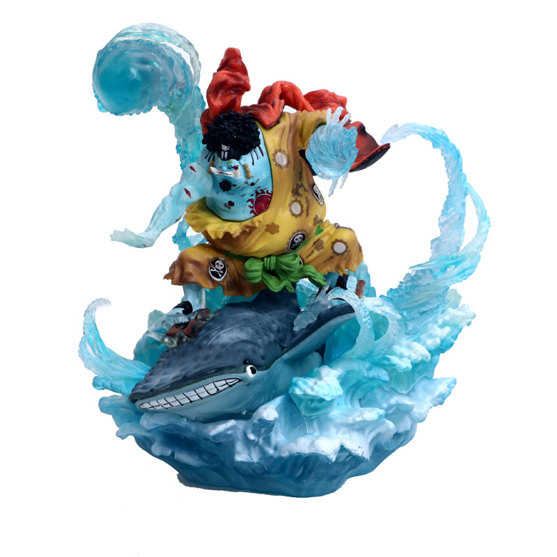 NEW hot 21cm One Piece War damage Jinbe Action figure toys doll Christmas gift no box (5)
