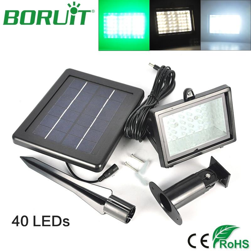 BORUiT 40 LEDs Solar Power Flood Lamp Light Sensor Emergency Night Light Waterproof Outdoor Garden Solar Light Park Street Light<br>