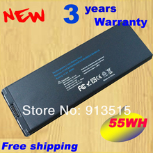 BLACK 10.8V 59Wh Battery fit for Apple Macbook A1181 A1185 MA561 MA566 ,Free Shipping