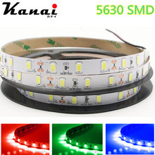 DC12V 5630 SMD 5M/lot  RGB LED Strip Light No-Waterproof Led Tape flexible Strip Light 60Leds/m Tira Home Decor Lamp Car Lamp
