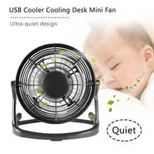 Mini USB Fan Cooler Portable DC 5V Small Desk USB 4 Blades Cooling Fans Operation Super Mute Silent PC / Laptop / Notebook(China)