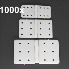 Wholesale 1000pcs/Lot  Pinned Nylon Hinges 20x36 mm & 16x28.5 & 11x25.5 For RC Airplane Plane Parts Model Replacement