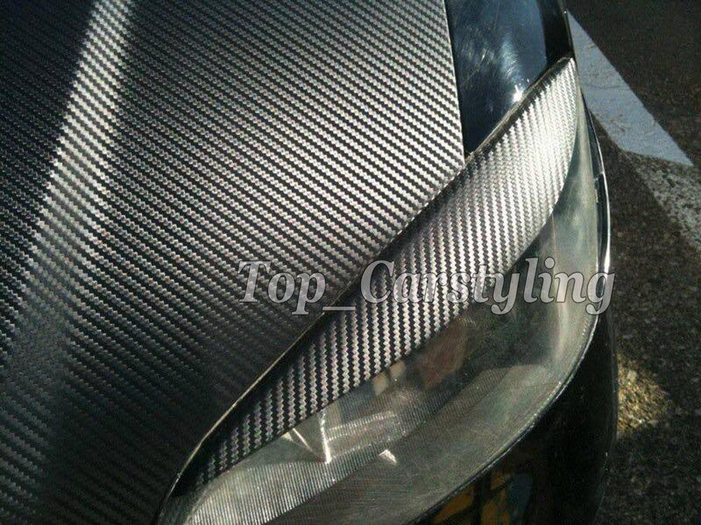 3D Big texture carbon fibre vinyl car wrapping film with air bubble free (2)