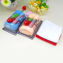 Unique Design Mini Towels Swiss Roll Pattern 2pcs/ Lot Cotton Soft Baby Towels Random Color(China)