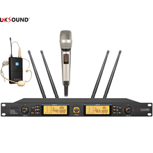 Lnksound professional uhf wireless microphone 640-937Mhz 3bands headset +handheld microfone Wireless Mic System 200 channel mics