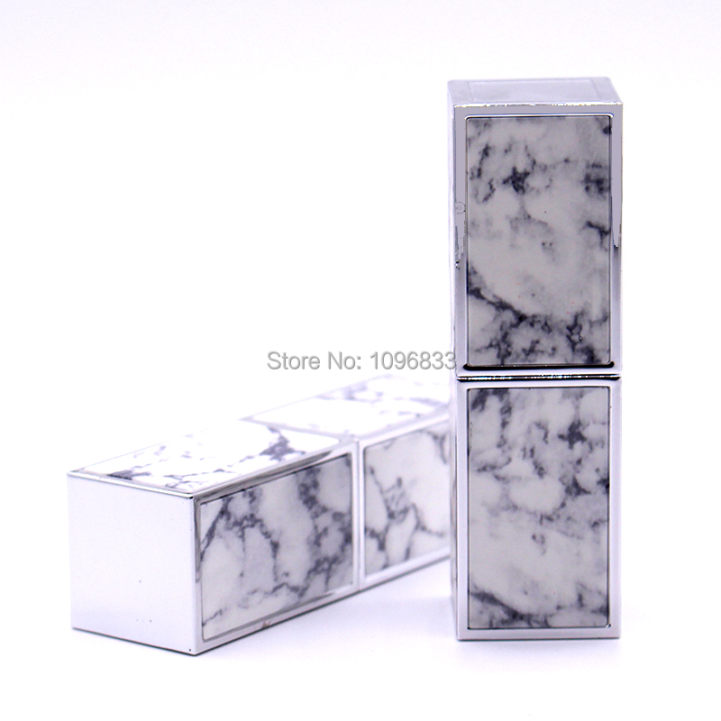 Empty Lipstick Container Silver White Pink Gold Color Elegant Cosmetics Packaging Square Lipbalm Tube New Arrival (4)