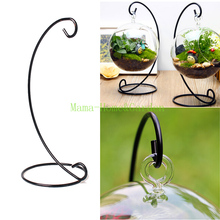 12 Inch Without Vase Flower Plant Stand Hanging Hydroponic Home Office Wedding Decor Metal Plant Holders Hanging Vase Planter(China)