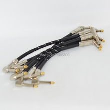 6 Pcs 21cm Guitar Patch Cables effects cable guitars cable High Quality Guitar Patch Link Cables Pedal Instrument Free Shipping