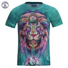 Mr.1991INC New Fashion Men/women 3d t-shirt funny print colorful hair Lion King summer cool t shirt street wear tops tees(China)