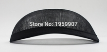 New Style 19.5*16 cm Sinamay Anomalistic Base Oval Hat Form With Satin Trimming 10pcs/lot