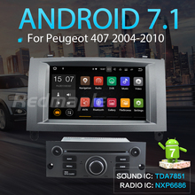 Android7.1 Car DVD Player GPS Navigation Multimedia Stereo Headunit for Peugeot 407 2004 2005 2006 2007 2008 2009 2010 Autoradio(China)