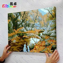 Out landscape picture DIY Paintings Paint By Number acrylic painting Oil Paintings For Living Room decor ms8899 autumn chill