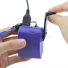 2017 Newest Dynamo Hand Crank Generator USB Cellphone Emergency Charger For PDA MP3 Samsung(China)