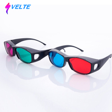 Svelte Universal Type 3D Glasses TV Movie Dimensional Anaglyph Video Frame 3D Vision Glasses DVD Game Glass Red And Blue Color(China)