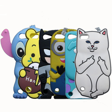 3D Cartoon Minions Stitch Case For Apple iPod Touch 5 5th 6 6th Cover Rabbit Sulley Tiger Horse Pig Soft Phone Bags