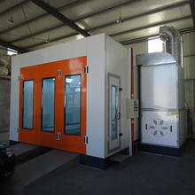 High Quality Car Spray Booth Bending Steel Door With  Turbo Fans Hot Sale