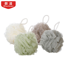 Large Size Solid Bath Balls Rich bubbles Body Flower Bath Sponge Shower Brush Body Wash Scrubber Mesh Soft Puff(China)