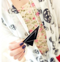 N110 jewellery accessories gift wholesale new arrival Fashion Necklace, Fashion vintage black triangle necklace for women