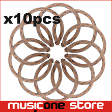 10pcs Acoustic Guitar Maple and Rosewood Soundhole Rosette Inlay Guitar Body Project Parts
