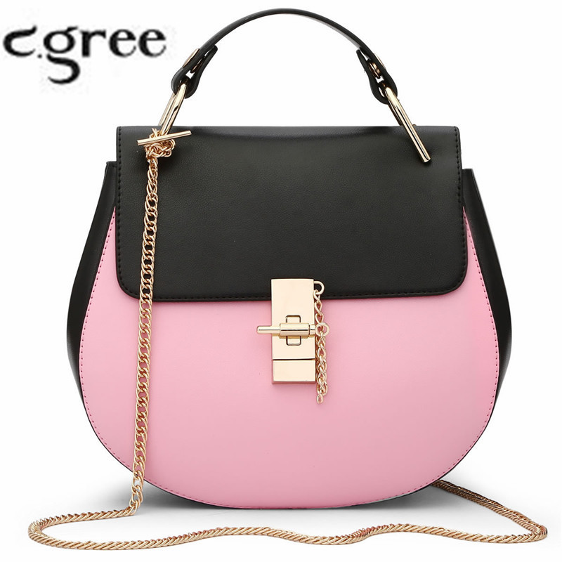 2017 Pink Pu Leather Women Messenger Bag Small Pig Shoulder Bag Designer Chains Female Crossbody Bags Fashion Tote For Lady<br><br>Aliexpress