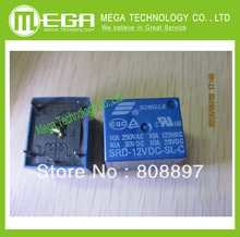 Free Shipping 50pcs SRD-12VDC-SL-C 12V DC Power Relay PCB Type(China)
